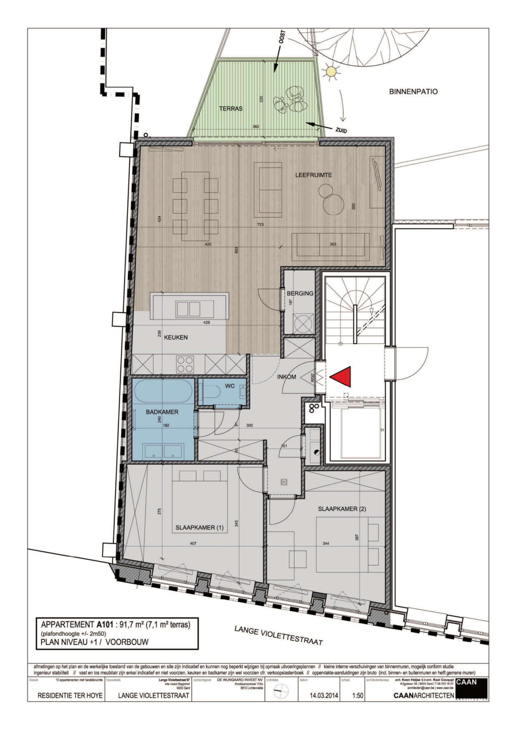 furnished business apartment A001 layout