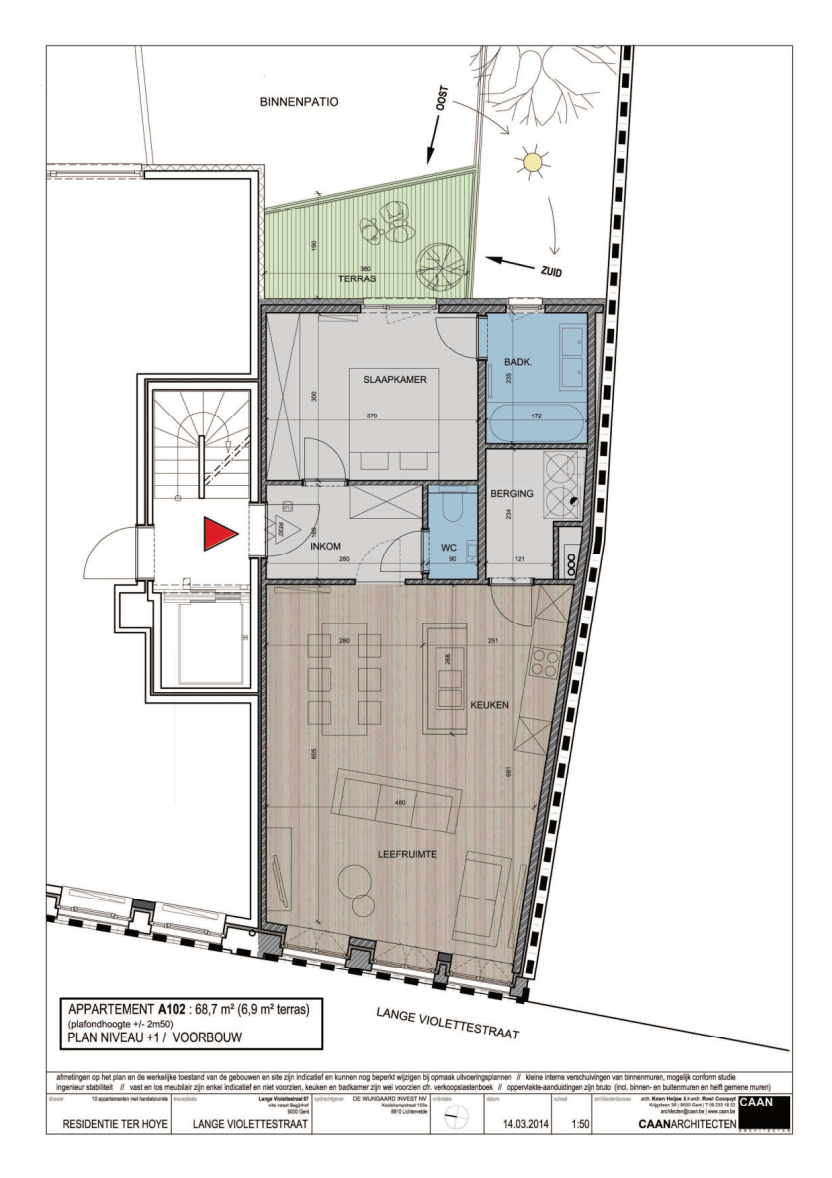 furnished business apartment A102 layout
